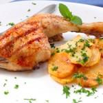 muslo-de-pollo-a-la-brasa - Restaurante El Cruce - Alcalá del Júcar
