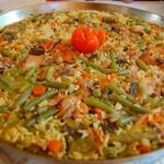 paella-de-verdura - Restaurante El Cruce - Alcalá del Júcar