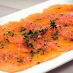 salmon-marinado - Restaurante El Cruce - Alcalá del Júcar